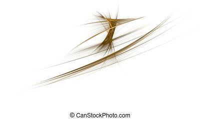 Golden Linear Motion - Dynamic golden linear motion on white...