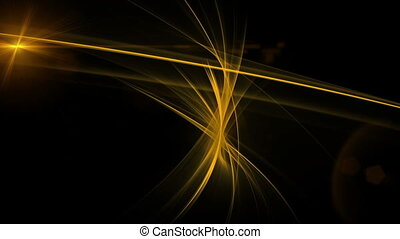 Golden Linear Motion with Flare - Dynamic golden linear...