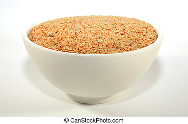 Golden linseed in a bowl