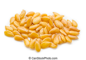 Golden linseed or flax seeds.