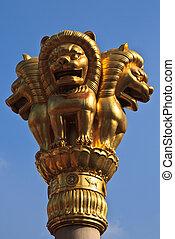 Golden Lions statue