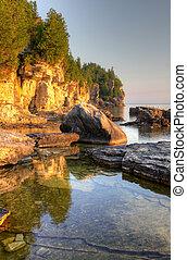 Golden Lit Bruce Peninsula - An HDR photo the golden morning...