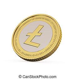 Golden Litecoin coin - Golden Litecoin digital currency coin
