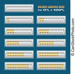 Golden loading bars