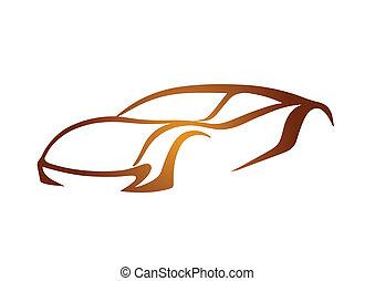 Golden logo of auto