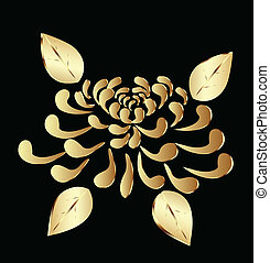 Golden lotus flower logo