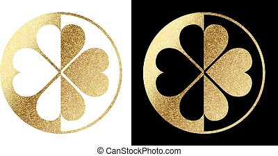 clover logo in golden
