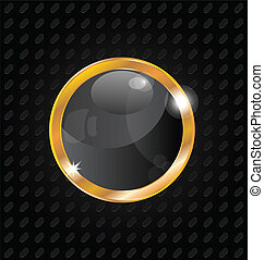 Golden luxury ball isolated on aluminum background