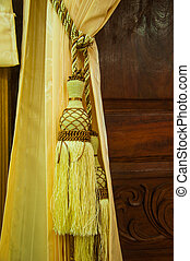 Golden luxury tassels for beautiful curtain