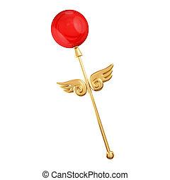 Golden magic wand.