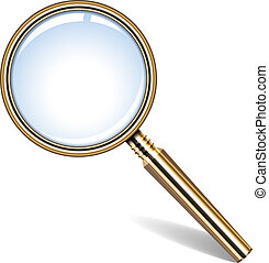 golden magnifying glass