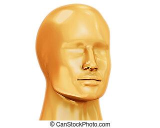 Golden man head