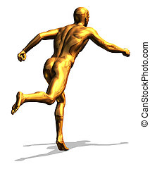 Golden Man Running
