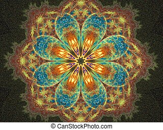 abstract fractal mandala created with apophysis, very suitable as a background