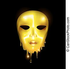 golden mask liquid face