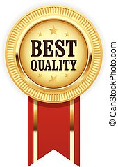 Golden medal Best Quality with red ribbon