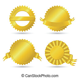 Golden medallions set