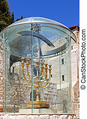 Golden Menorah in Jerusalem