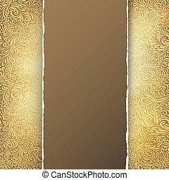 Golden menu template. Vector, EPS10