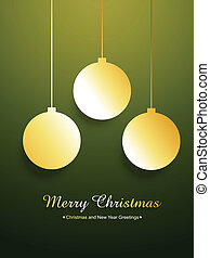 golden merry christmas design