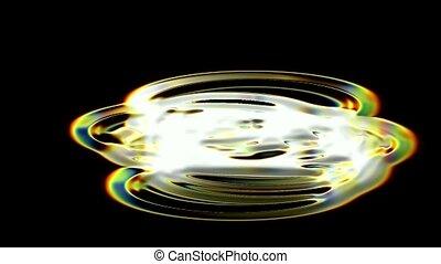 golden metal aurora and circle