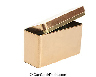 Golden Metal Box isolated