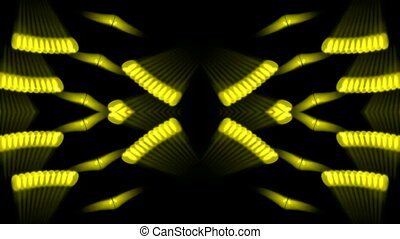 golden metal gears,rays light fancy