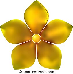 Golden metal pattern flower five petal - Gold pattern...