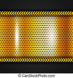 Golden metallic surface, vector illustration 10eps