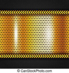 Golden metallic surface, vector illustration 10eps