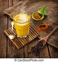Golden Milk made with turmeric. - Golden Milk, made with ...