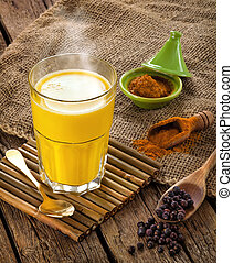 Golden Milk made with turmeric. - Golden Milk, made with...