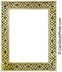 Golden Mirror Frame Cutout
