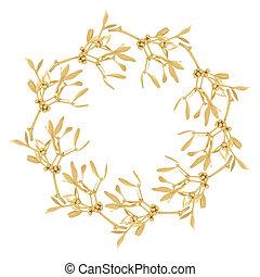 Golden Mistletoe Garland