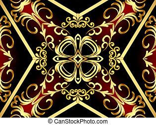 gold(en), model, frame, achtergrond, wikkeling