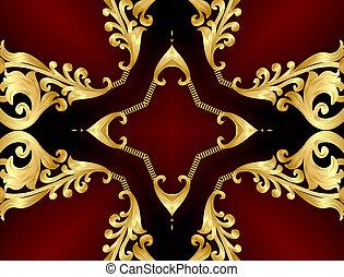 gold(en), model, frame, hoekig, achtergrond