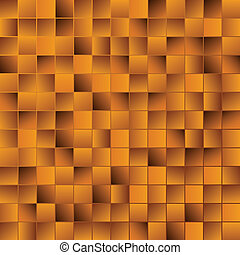 Golden mosaic vector background