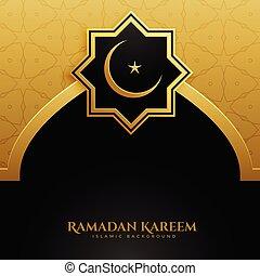 golden mosque door ramadan kareem background