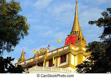 Golden Mount and Wat Saket in Bangkok, Thailand