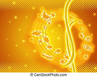 golden music background