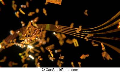 Golden Musical Symbols