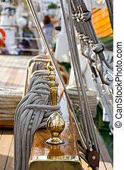 Golden nautic pieces