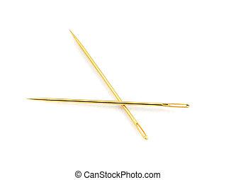 golden needles - pair of golden needles