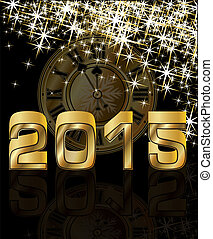 Golden New 2015 Year, vector