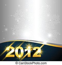 golden new year design - vector golden happy new year design...