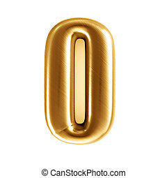 3d rendered illustration of an isolated golden number