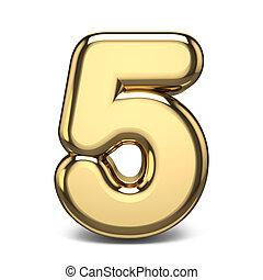 Golden number 5 FIVE 3D
