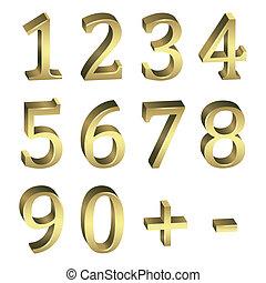 golden numbers. Vector.