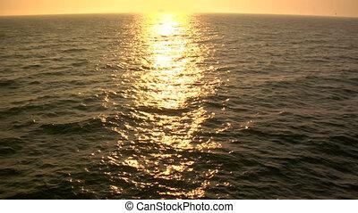 Golden Ocean slomo - This is a slow motion shot of golden ...