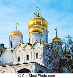 Golden Onion domes of Kremlin cathedral